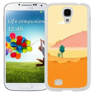 S4 Cover Case,Google Lollipop August Mountain Love White Personalized Cool Design Samsung Galaxy S4 Case