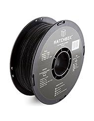 HATCHBOX 3D PLA-1KG1.75-BLK PLA 3D Printer Filament, Dimensio...