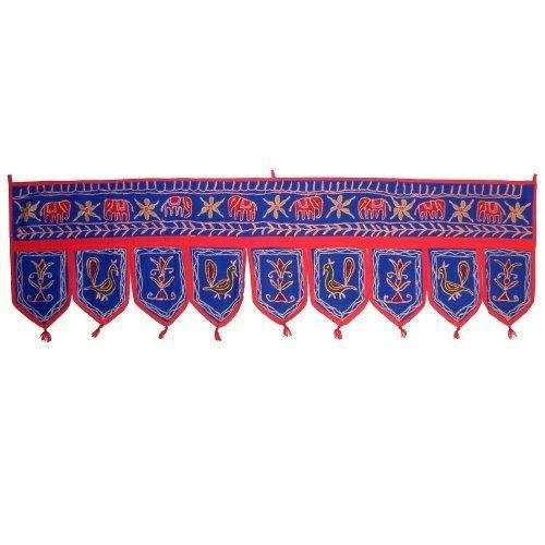 Decorazione Toran per porte o finestre 9 bandierine artigianato indiano tessuti tessili accessori decorazione casa indischerbasar.de lila