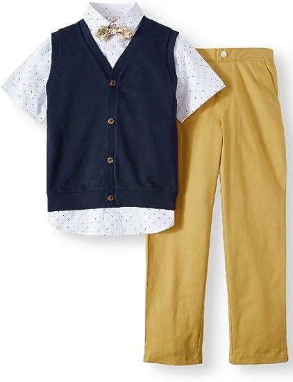 New Wonder Nation Boy Short Sleeve Button Down /& Shorts 2pc Set
