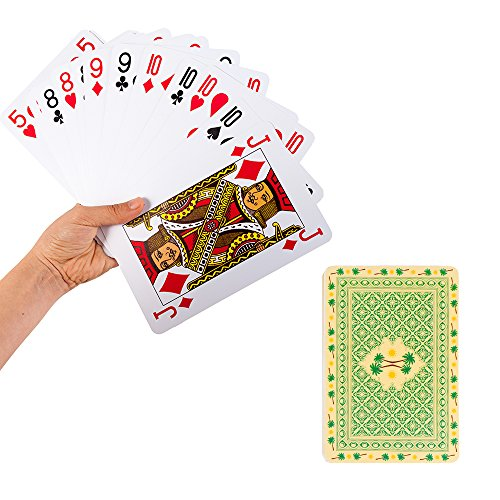 Mealivos 5 x 7 Inch Gaint Jumbo PVC Waterproof Poolside Playing Cards by Mealivos