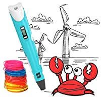 3D Printing Pen, BESTHING Low Temperature 3D Printing Pen with LED Display for Kids and Adults, Doodler Model Making and Art Crafts Tool, Compatible with PLA and ABS Filament Refills