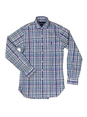 Polo RL Men's Slim Fit Easy Care Plaid Dress Shirt