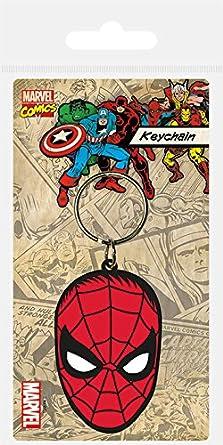 Keychain Marvel - Llavero de Goma Spider-Man Face: Amazon.es ...