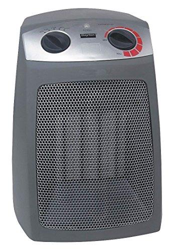 Dayton 1VNW9 Electric Heater, Analog Ceramic, 1500 W