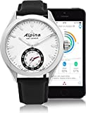 Alpina-Horological-Smartwatch-Mens-Fitness-Watch-44mm-Silver-Face-Swiss-Quartz-2-Year-Battery-Life-Running-Watch-Black-Leather-Band-Water-Resistant-Sleep-Monitor-Activity-Tracker-Watch-AL-285S5AQ6