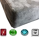 Dogbed4less DIY Pet Bed Pillow Grey Microsuede