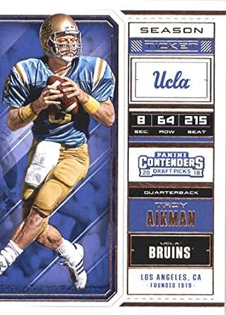 2f0be0bc6 2018 Panini Contenders Draft Picks Season Ticket  97 Troy Aikman UCLA  Bruins Football Card