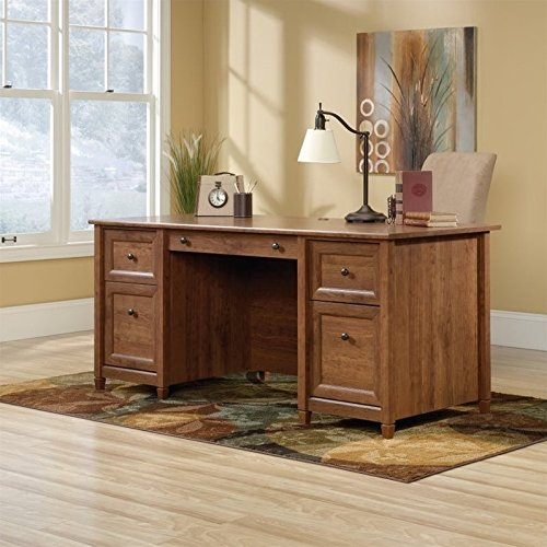 Sauder Edge Water Executive Desk in Auburn Cherry - Chair Sauder Office Furniture