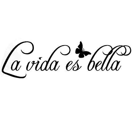 La Vida Es Bella Vinilos Decorativos Pared Kililaya Calcomanía