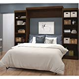 115 in. Queen Wall Bed Kit in Chocolate Finish