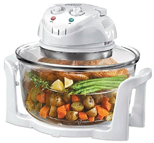 Glass Bowl Convection Oven 3 Gal., Cook Faster, with Less Energy and More Evenly with Superior Results by Magic Chef (Magic Chef Wall Oven)