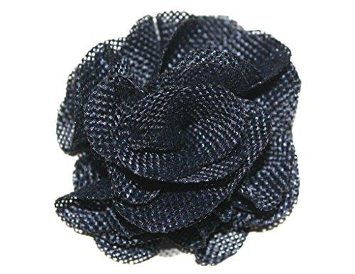 (10 Pcs) JLIKA Large Burlap Flowers Embellishments for Weddings, Hair Accessories, Scrapbooking or Crafts (Navy)