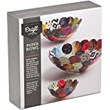 Craft Crush Paper Bowls - Make 3 DIY Different Sized Decorative Bowls - Crafting Kit for Teens & Adults