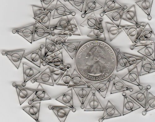 50 METAL Harry Potter Deathly Hallow CHARMS Jewelry Making Supply Charms Wholesale by Wholesale Charms -