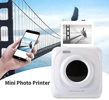 Mini impresora térmica portátil, bolsillo multifunción impresión ...