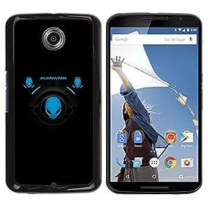 LECELL -- Funda protectora / Cubierta / Piel For Motorola NEXUS 6 / X / Moto X Pro -- Blue Aliens --
