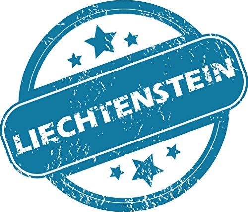 Liechtenstein Grunge Stamp Home Decal Vinyl Sticker 14'' X 12''