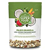 Gluten Free Granola Paleo Cereal | Grain Free, Plant Based Proteins from Nuts & Seeds | Vegan, Non-GMO with Lime, Coconut & Macadamia Burst by The Australian Superfood Co (320 g / 11.28 oz)