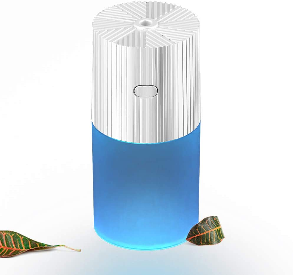 TOPLANET Desk Diffuser for Office, Essential Oil Diffuser 300ml Capacity, Cool Mist Humidifier, Car Diffuser USB Humidifier, Desk Humidifier Office Mini Humidifier with Night Light