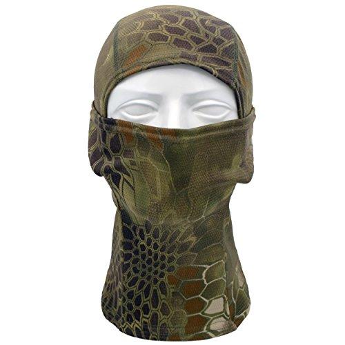 TClian Camouflage Balaclava Full Face mask Ninja hood Millitary Camo (Mountain) - Hunting Face Mask