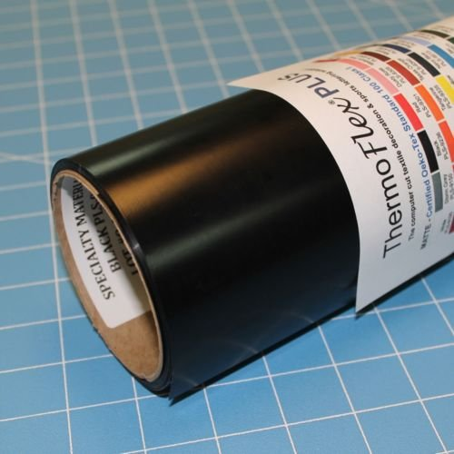 ThermoFlex Plus 15'' x 50' Roll Black Heat Transfer Vinyl, HTV by Coaches World by Thermoflex