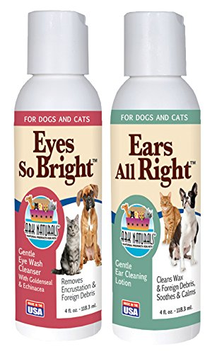 Ark Naturals Eyes so Bright and Ears All Right Bundle with Echinacea Extract, Goldenseal Extract, and Witch Hazel, 4 fl. oz. (Gentle Ear Cleaning Lotion)