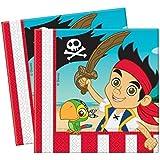 20 serviettes de table en papier Jake Et Les Pirates Du Pays Imaginaire