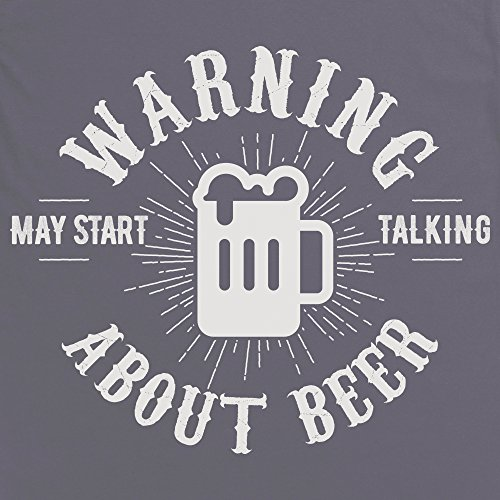 May Start Talking About Beer Camiseta Funny Novelty Gift, Para mujer Gris marengo