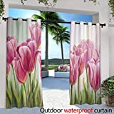 berrly Outdoor Blackout Curtains,Tropical Colorful Sunset at The Tropical Beach Thailand,W96 x L84