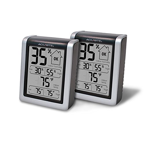 Price comparison product image AcuRite 01226M Indoor Humidity Monitor (Pack of 2)