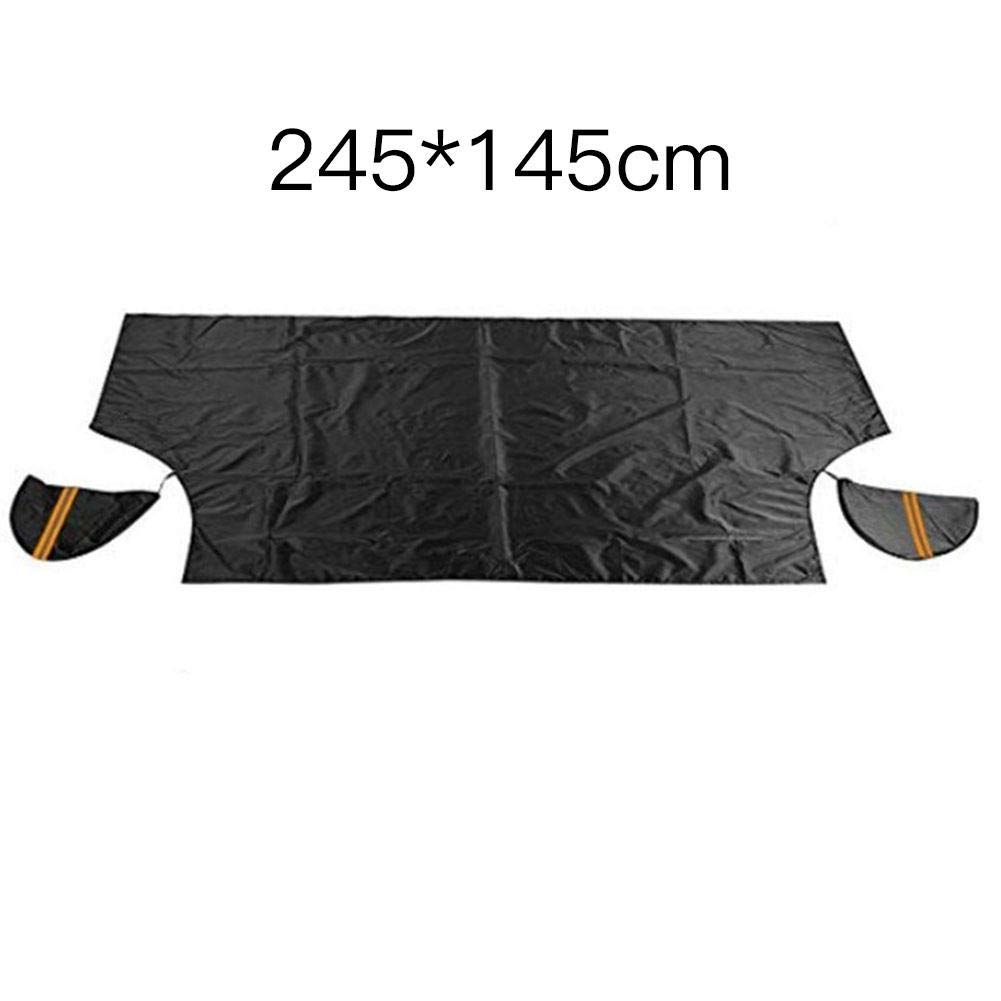 210T Silver Car Windshield Snow Ice Cover /& Sun Shade Protector with Mirror Cover for All Seasons Block Snow UV Anti-Freeze Half Snow Shield