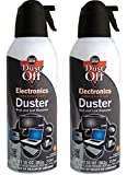 Dust-Off Disposable Compressed Gas Duster awmzjB, 2Pack (Can 10oz.)