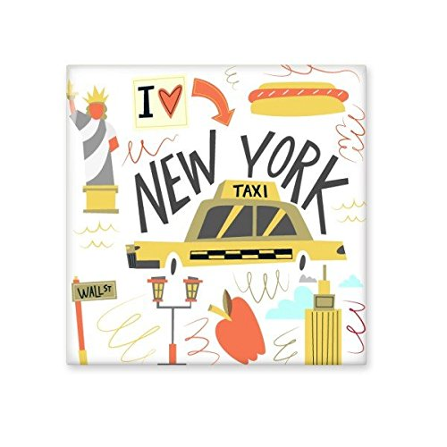 America New York City Taxi Statue of Liberty Illistration Ceramic Bisque Tiles for Decorating Bathroom Decor Kitchen Ceramic Tiles Wall Tiles 50%OFF