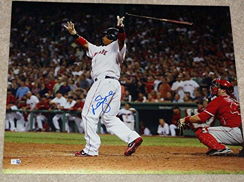 Signed Manny Ramirez Photograph - ALCS Homerun!16x20 + Holo - Autographed MLB Photos