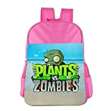Plants Vs. Zombies Children's School Bag For 4-15 Years Old (2 Colors) Pink