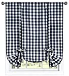 GoodGram Buffalo Check Plaid Gingham Custom Fit Window Curtain Treatments By Assorted Colors, Styles & Sizes