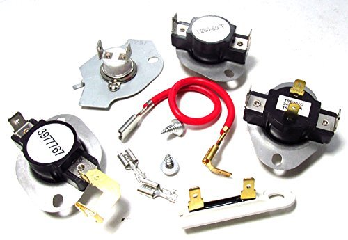 Complete Dryer ET401 Kit For Whirlpool 279816, 3390291, 3977393, 3387134, 3977776 Thermo Fuse ()