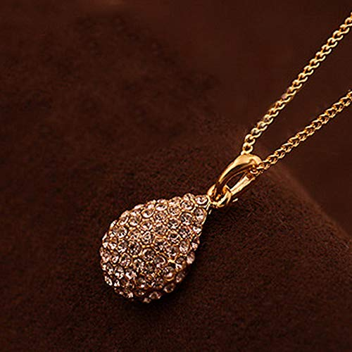 Kaputar New Ladys Stylish Crystal Rhinestone Pendant Chain Fashion Necklace Jewelry | Model NCKLCS - 20137 - Pendant Satin Asian