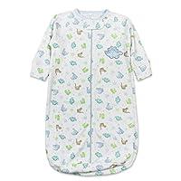 Spasilk Baby-Boys Newborn Baby-Boys Cotton Sleep Bag, Blue Dino, O/S (18lbs.)