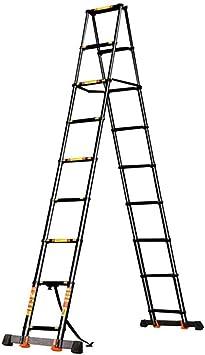 LADDER Escaleras Telescópicas, Escalera Telescópica de Extensión de Ingeniería de Aluminio para Trabajo Pesado, 10.2 pies, Escalera Telescópica Profesional Multiuso Negra, Capacidad de 330 lb: Amazon.es: Bricolaje y herramientas
