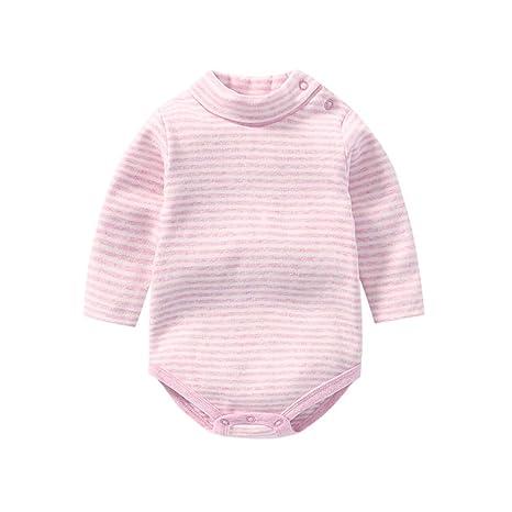 2250e1bcedf3 ALLAIBB Unisex Baby Boy Girl Cotton Soft Long Sleeve High Neck ...