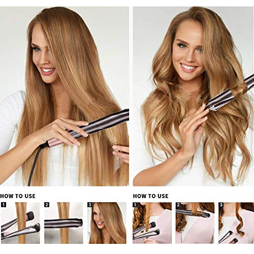 Professional Hair Straightener 2 in 1 Curling Iron ...