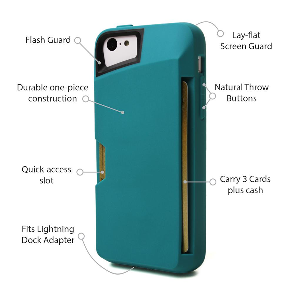 Amazon.com: iPhone 5c Wallet Case - Slite Card Case for