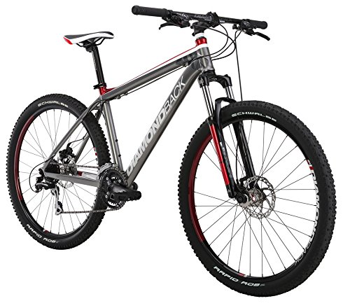 Diamondback Bicycles 2015 Axis Hard Tail Complete Mountain Bike, 22-Inch/X-Large, Dark Silver/Red