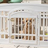 IRIS USA (586680) 24'' 4 Panel Exercise Pet Playpen with Door, White Cl-604E