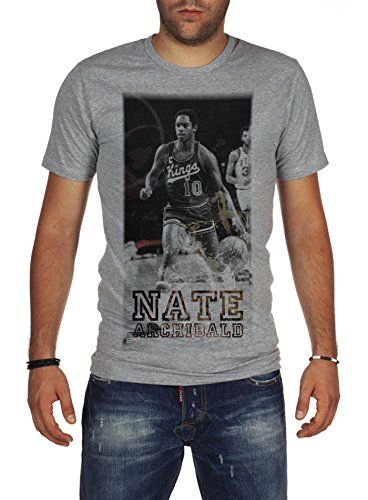 - Palalula Men's Basketball Kansas City Kings Nate Archibald Tribute T-Shirt XL Grey
