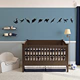 Dinosaurs Vinyl Wall Art Decal Pack for Kids and Children's Nursery