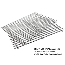 Hisencn Stainless Steel Cooking Grids Grates Grill Grid Replacement For Thermos Grill Parts 461252605 Kirkland Front Avenue 463230703 Charbroil 463261306 Kenmore Master Chef Bbq Pro 16 5 8 Inch