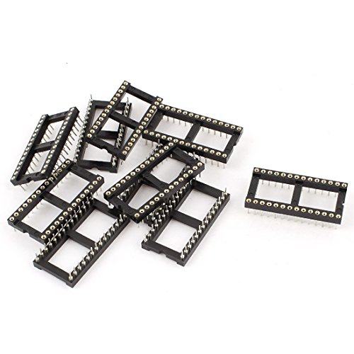 (uxcell 10pcs 2.54mm Pitch 28P Dual Row DIP SIP Round IC Sockets Adaptor)